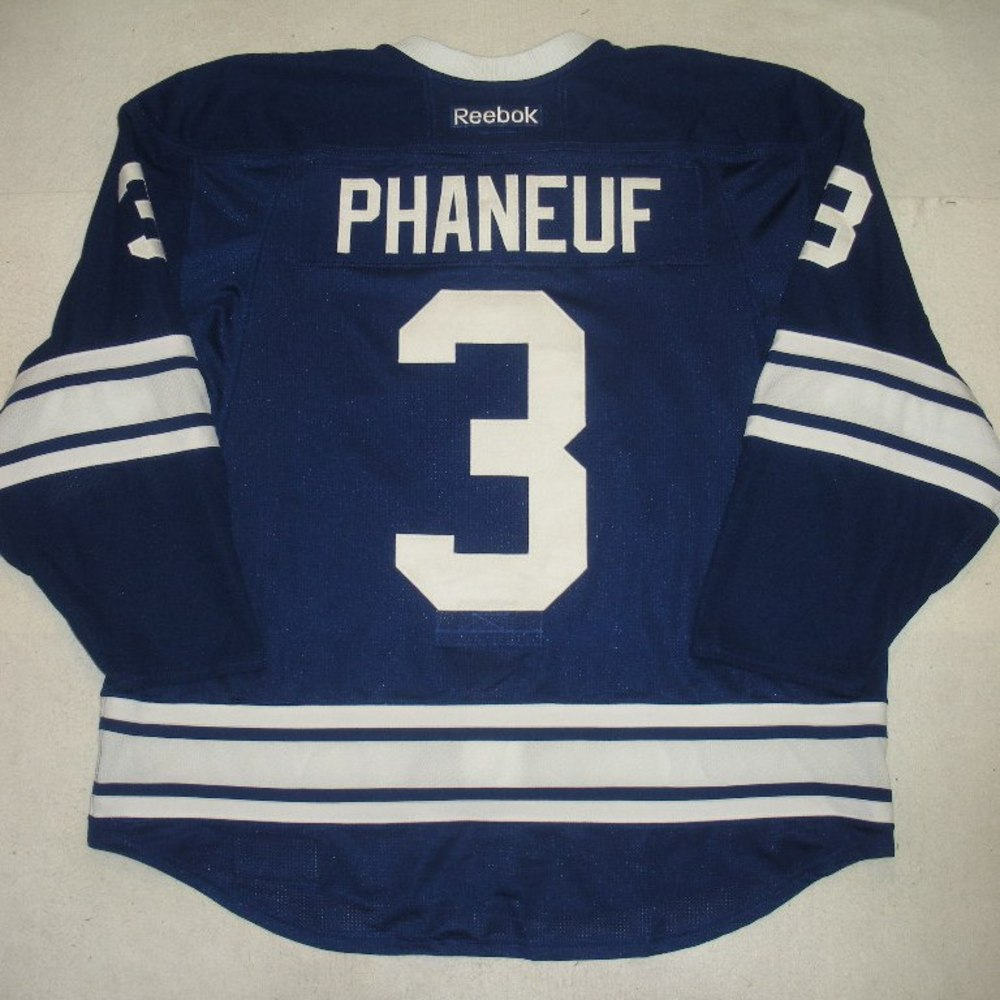 ... Jerseys Dion Phaneuf - Toronto Maple Leafs - Hockey Hall of Fame Game -  Game-Worn Reebok Toronto Maple Leafs 3 Mens Dion Phaneuf Black Ice ... d62d8c437