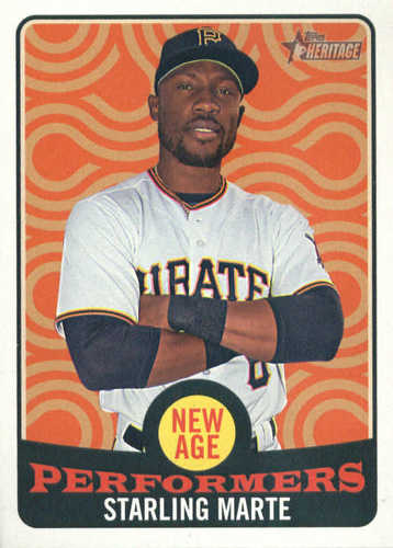 Photo of 2017 Topps Heritage New Age Performers #NAP22 Starling Marte