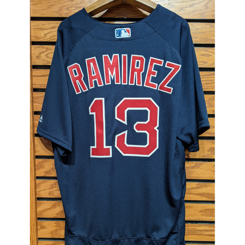 Photo of Hanley Ramirez #13 Team Issued Navy Road Alternate Jersey