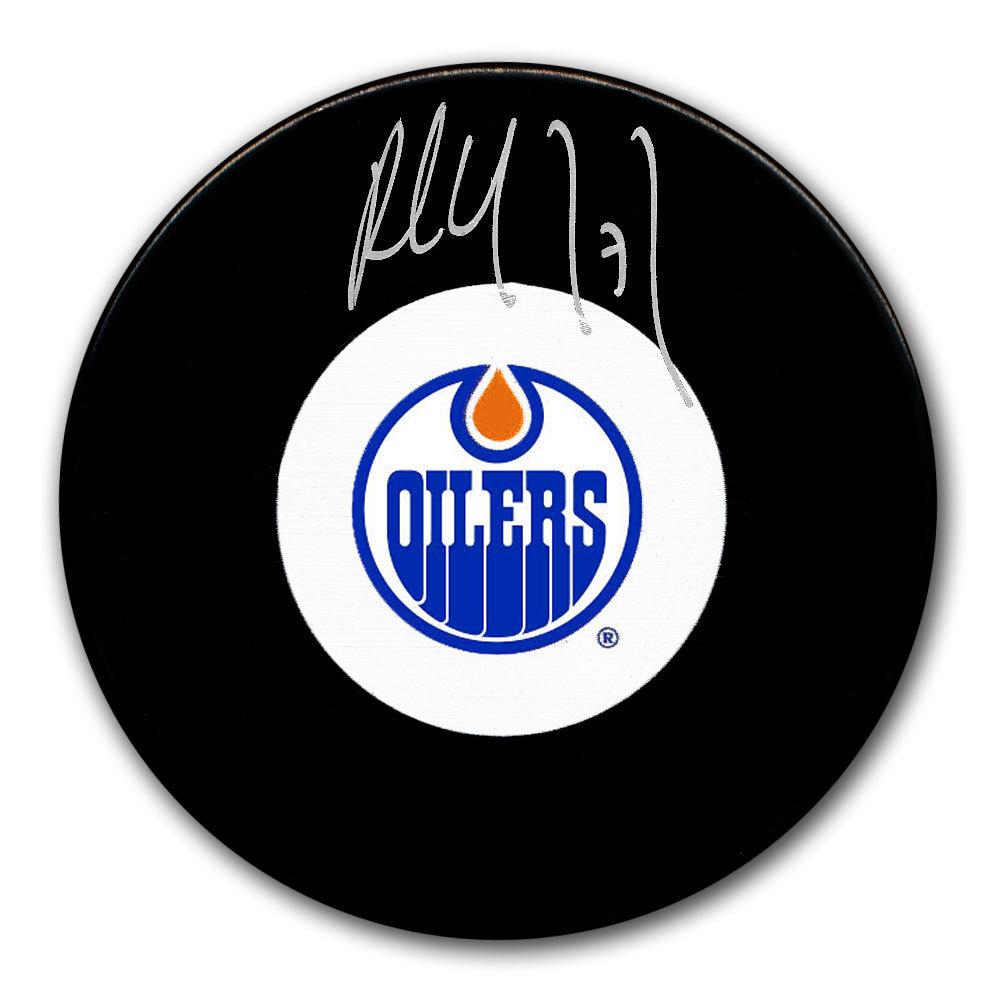 Paul Coffey Edmonton Oilers Autographed Puck