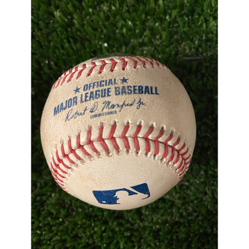 Photo of JT Realmuto Game Used Hit Double Baseball - May 8, 2021 off Ian Anderson