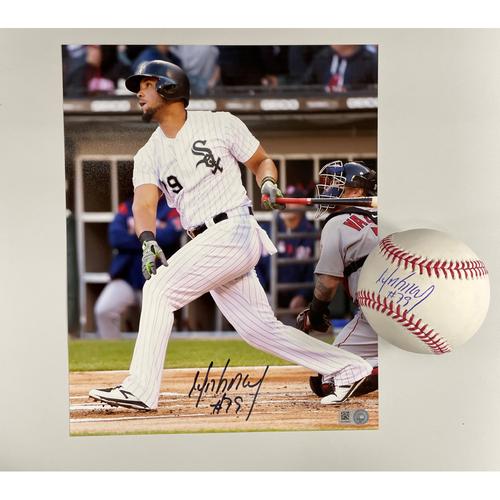 Photo of Jose Abreu Autographed Baseball and Photo