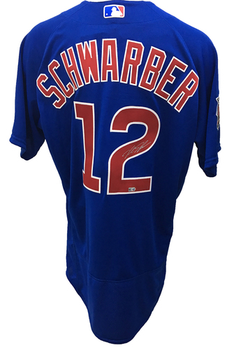 Kyle Schwarber Autographed Jersey: Size - 48