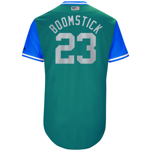 """Photo of Tim """"Bogey"""" Bogar Seattle Mariners Game-Used Players Weekend Jersey"""