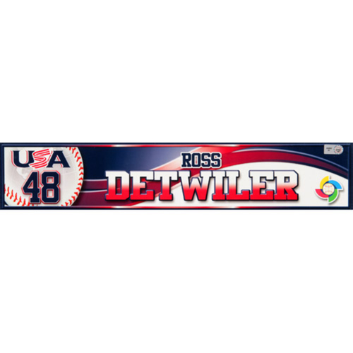 2013 WBC: USA Game-Used Locker Name Plate - #48 Ross Detwiler