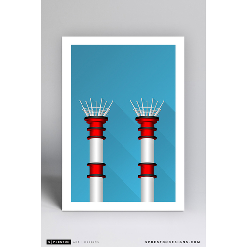 Photo of Great American Ball Park - Minimalist Ballpark Art Print by S. Preston  - Cincinnati Reds