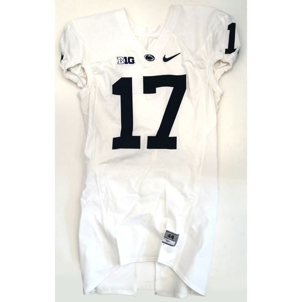 Photo of Penn State Game-Used Football Jersey: White #17 (Size 44)