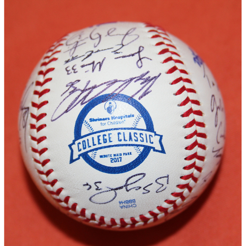 Photo of Autographed Texas A&MTeam 2017 SHC College Classic Baseball - Not MLB Authenticated