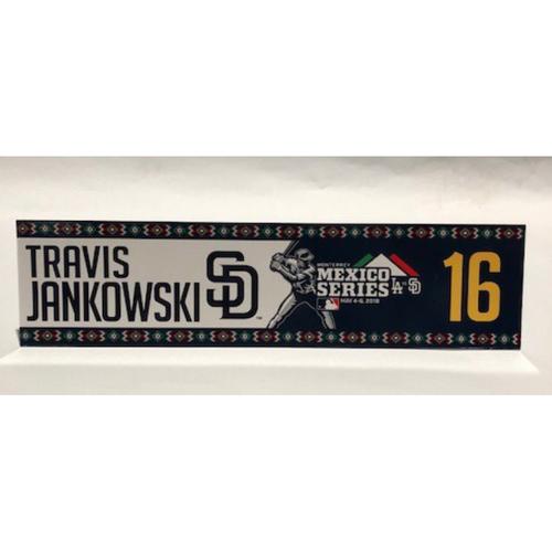 Photo of 2018 Mexico Series - Travis Jankowski Game-Used Locker Tag