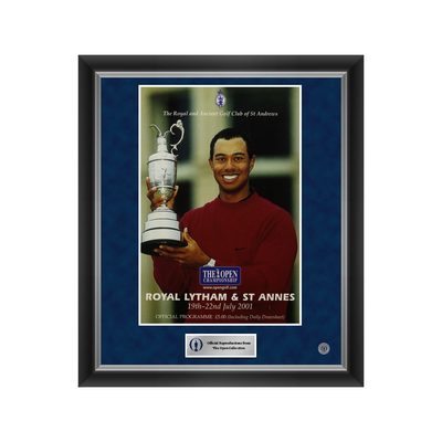 Photo of 1 of 500 L/E The 130th Open Royal Lytham & St Annes 2001 Enlarged Programme Cover Reproduction Framed