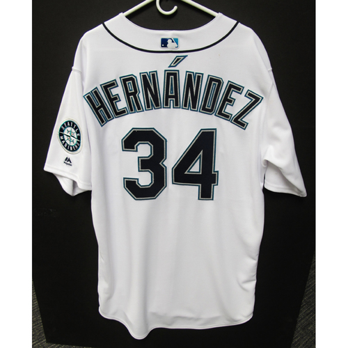 Photo of Seattle Mariners Felix Hernandez Game Used 2018 White Jersey (5/29/18)