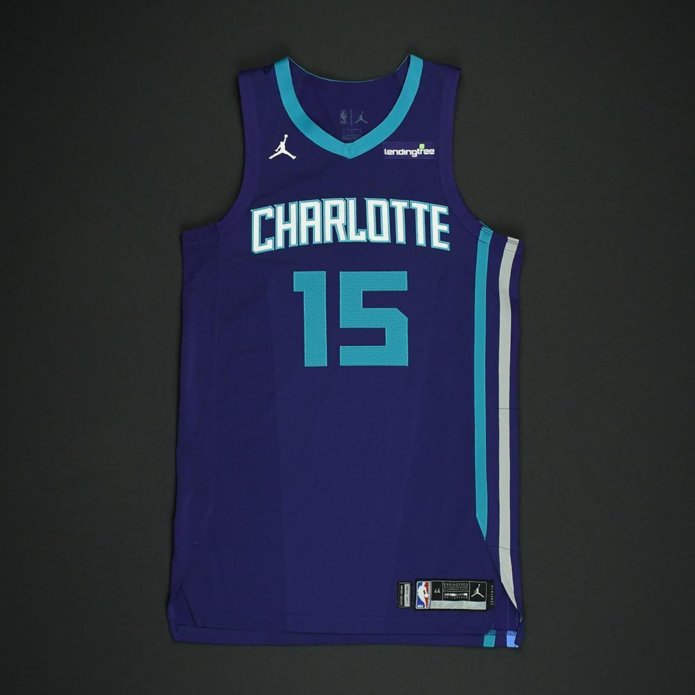 Kemba Walker - Charlotte Hornets - Game-Worn 'Statement' Jersey - 2017-18 Season
