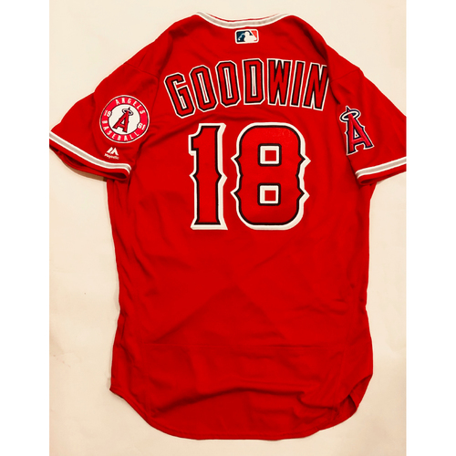 Photo of 2019 Mexico Series - Game-Used Jersey - Brian Goodwin, Houston Astros at Los Angeles Angels - 5/4/19