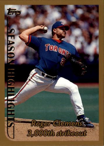 Photo of 1999 Topps #203 Roger Clemens HL