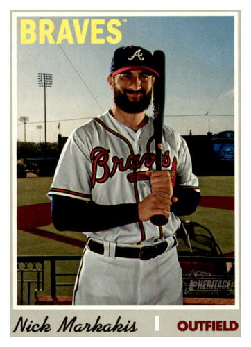 Photo of 2019 Topps Heritage #505 Nick Markakis