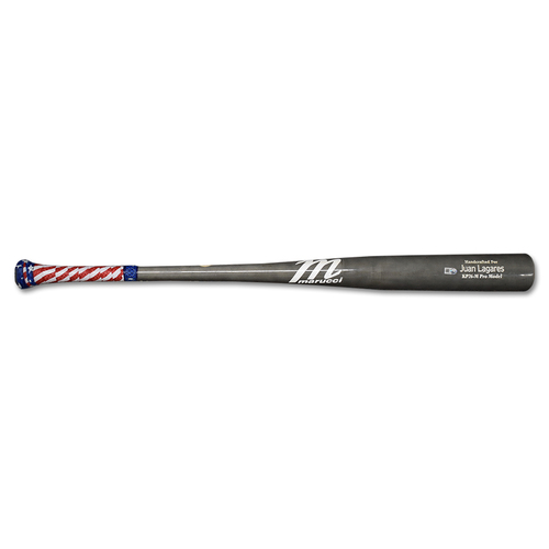 Photo of Juan Lagares #12 - Team Issued Full Bat - Grey Marucci Model