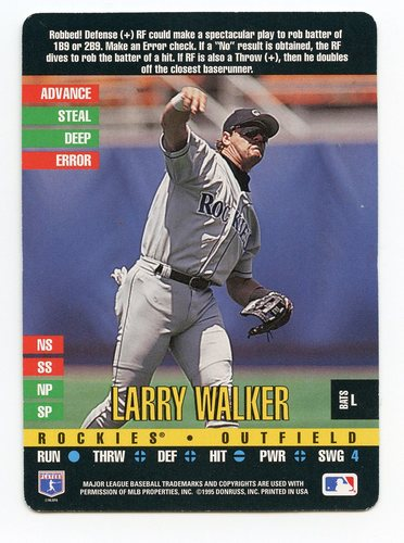 Photo of 1995 Donruss Top of the Order #234 Larry Walker