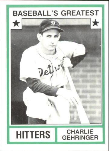 Photo of 1982 TCMA Greatest Hitters #34 Charlie Gehringer
