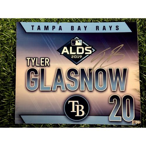 Photo of Game Used ALDS Autographed Locker Tag: Tyler Glasnow - October 7, 2019 v HOU