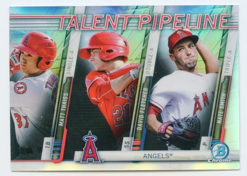 Photo of 2017 Bowman Chrome Talent Pipeline Refractors #TPLAA Matt Thaiss/David Fletcher/Nate Smith