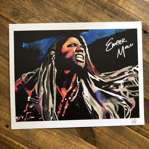Photo of Ember Moon SIGNED 11 x 14 Rob Schamberger Print (Howl At The Night)