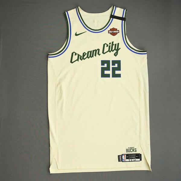 Image of Khris Middleton  - Milwaukee Bucks - Game-Worn City Edition Jersey - Scored Game-High 39 Points - 2019-20 NBA Season
