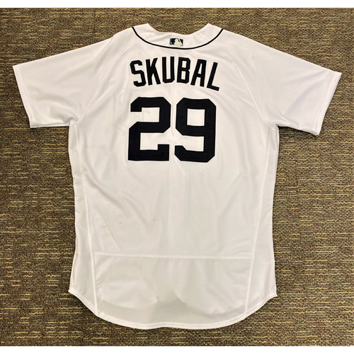 Photo of Tarik Skubal #29 Detroit Tigers Game-Used Home Jersey - Rookie Season (MLB AUTHENTICATED)