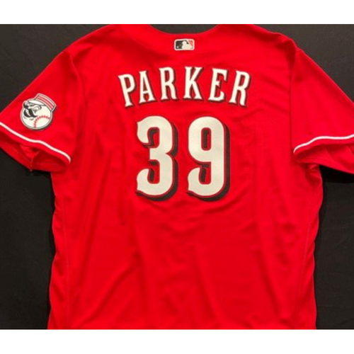 PARKER -- Authentic Reds Jersey -- $1 Jersey Auction -- $5 Shipping -- Size 52 (Not MLB Authenticated)