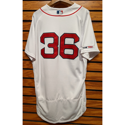 Photo of Chris Owings #36 Team Issued Home White Jersey