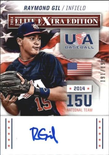 Photo of 2014 Elite Extra Edition USA Baseball 15U Signatures #7 Raymond Gil