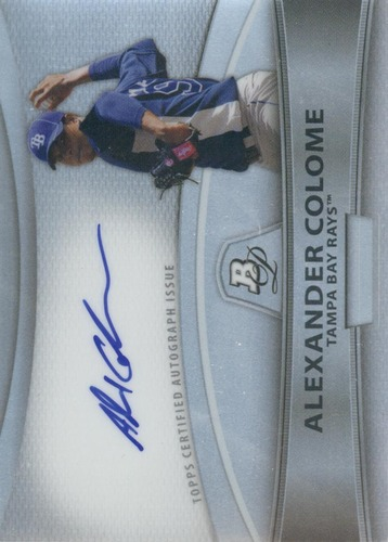Photo of 2010 Bowman Platinum Prospect Autographs Refractors #AC Alexander Colome