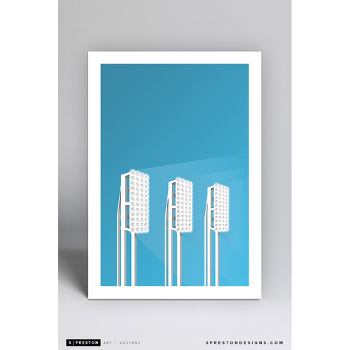 Photo of Progressive Field - Minimalist Ballpark Art Print by S. Preston  - Cleveland Indians