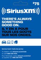 SXM $75 GIFT CARD