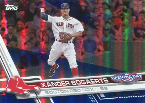 Photo of 2017 Topps Opening Day Blue Foil #106 Xander Bogaerts