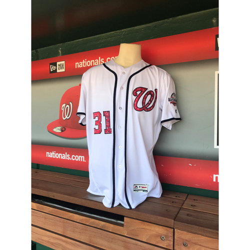 Photo of Game-Used Max Scherzer Stars & Stripes Jersey - 7/2/2018-7/4/2018 - Innings 3-4