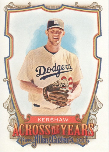 Photo of 2013 Topps Allen and Ginter Across the Years #CKW Clayton Kershaw