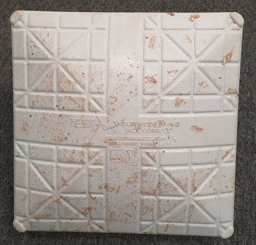 Photo of Authenticated Game Used Base - 3rd Base for innings 1 to 3 (April 23-24, 19 vs SF). Kevin Pillar's Return to Toronto.