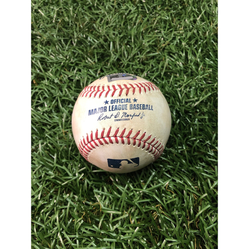 Photo of Game Used Baseball: Kevin Kiermaier HOME RUN off Yovani Gallardo - August 20, 2017 v SEA