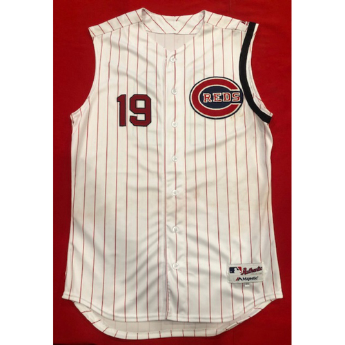Photo of Joey Votto -- 1961 Throwback Jersey (Starting 1B: Went 2-for-5) -- Cardinals vs. Reds on July 21, 2019 -- Jersey Size 44