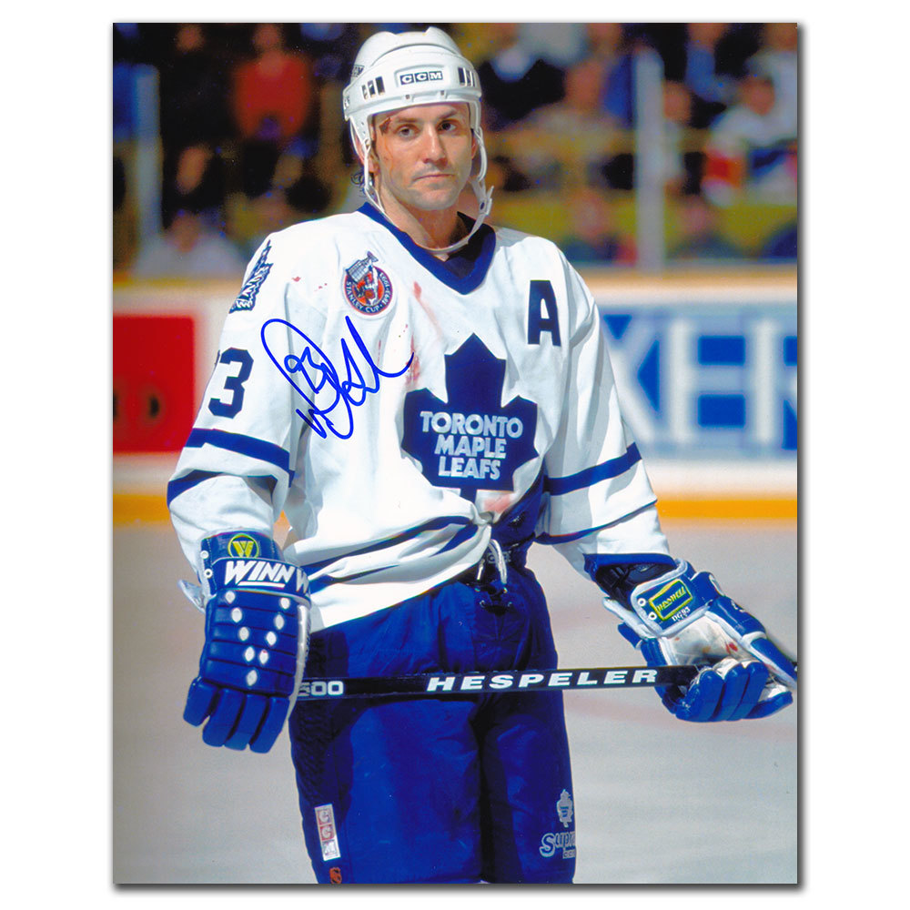 Doug Gilmour Toronto Maple Leafs WARRIOR Autographed 8x10