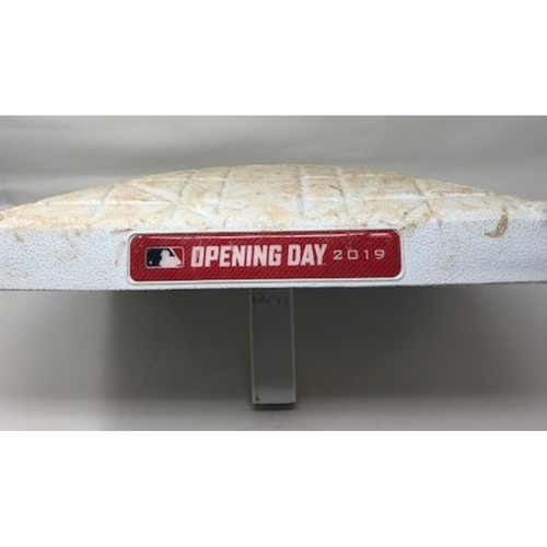 Photo of Game-Used Base from Opening Day 2019
