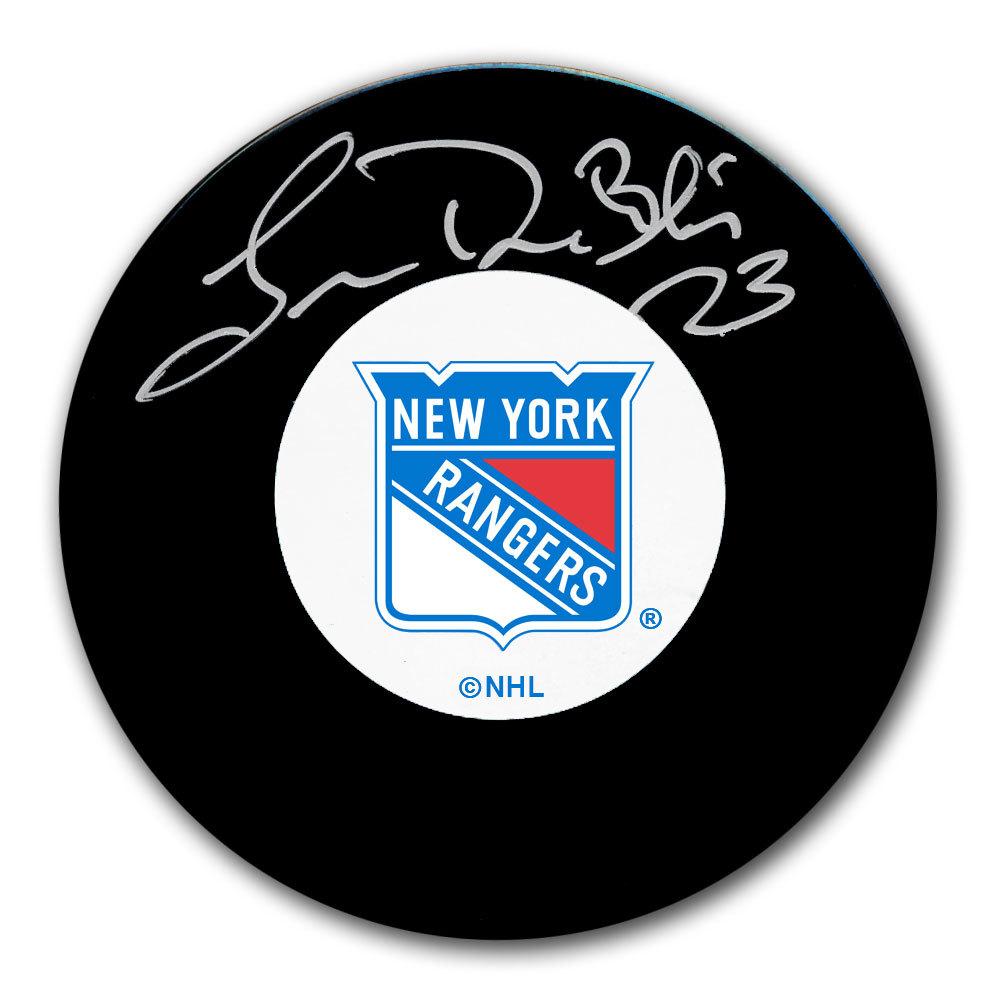 Lucien DeBlois New York Rangers Autographed Puck