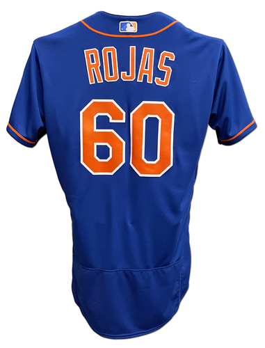 Photo of Luis Rojas #60 - Team Issued Blue Alt. Home Jersey - 2020 Season