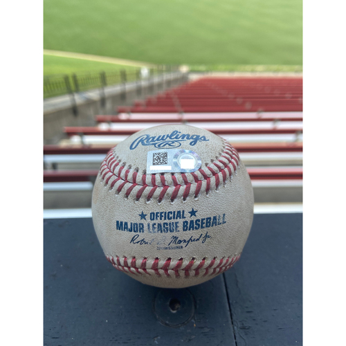 Photo of Cardinals Authentics: Game Used Baseball Pitched by Sandy Alcantara to Pual Goldschmidt and Tyler O'Neill *Goldschmidt Reaches on Fielding Error, O'Neill Foul*
