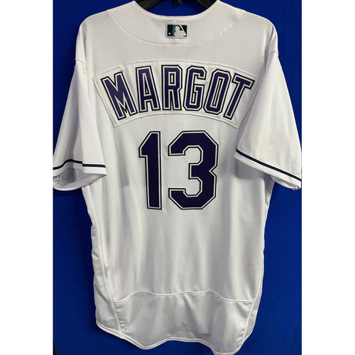 Photo of Game Used Devil Rays Jersey: Manuel Margot - May 29, 2021 v PHI