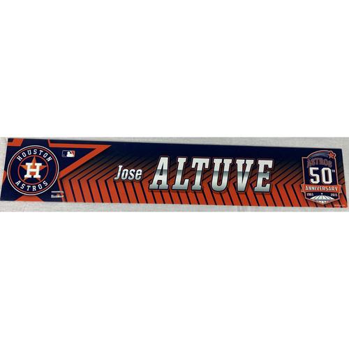 Photo of Jose Altuve 2015 Game-Used Locker Name Plate