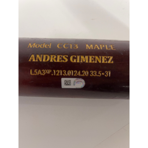 Photo of Game Used Broken Bat-8/8/2021 Tigers at Indians-  Ernie Clement doubles/ breaks bat against Wily Peralta
