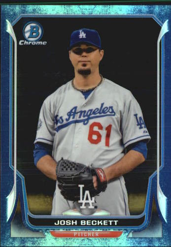 Photo of 2014 Bowman Chrome Bubble Refractors #220 Josh Beckett