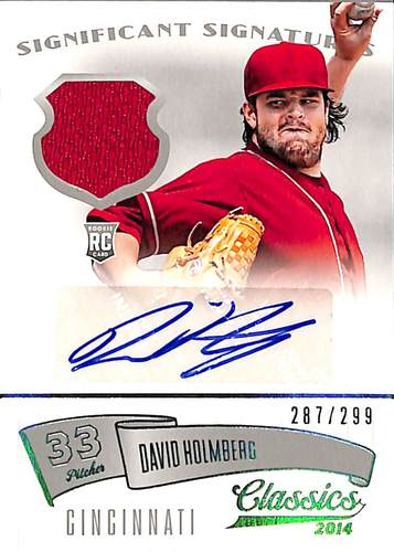Photo of 2014 Classics Significant Signatures Jerseys Silver #79 David Holmberg/299