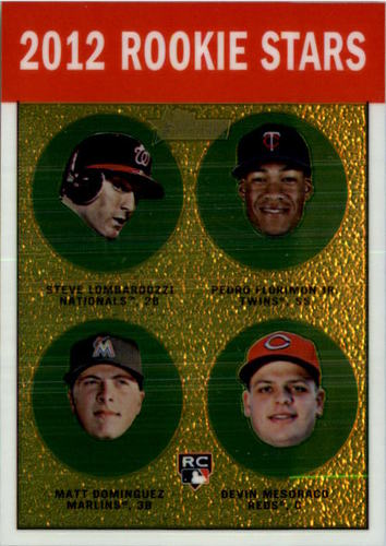 Photo of 2012 Topps Heritage Chrome #HP97 Steve Lombardozzi/Pedro Florimon/Matt Dominguez/Devin Mesoraco